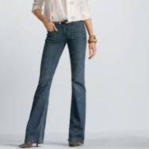 CAbi #146R Farrah Dark Wash Flare Jeans 10 EUC
